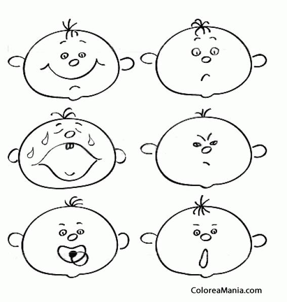 Colorear Expresiones De Bebito (expresión Y Lenguaje), Dibujo Para