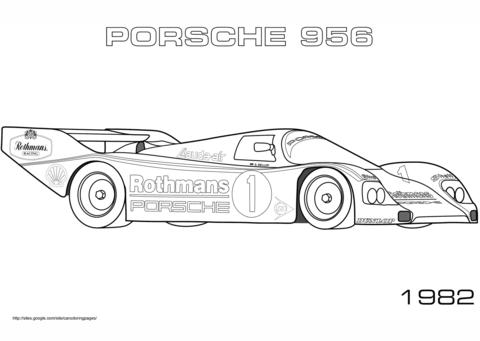 Dibujo De Porsche 956 De 1982 Para Colorear