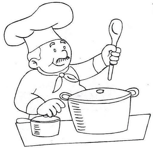 Resultado De Imagen Para Cocinero Para Colorear