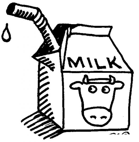 Leche De Vaca Dibujo De Una Caja De Leche Para Pintar Y Colorear
