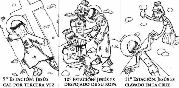 Dibujos Colorear Vía Crucis Para Niños