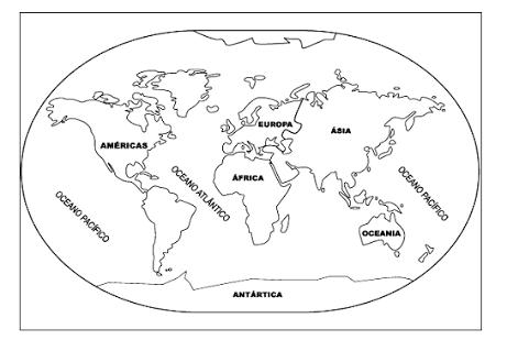 Resultado De Imagen Para Planisferio Dos Continentes E Oceanos