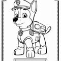 Patrulla Canina Para Colorear Chase