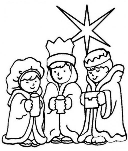 Dibujo Reyes Magos