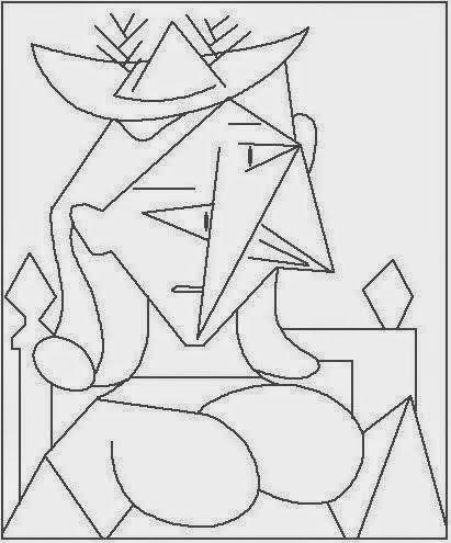 Pintores Famosos  Pablo Picasso Para Niños  Cuadros Para Colorear
