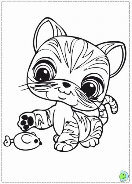 Littlest Pet Shop Dibujo Para Colorear