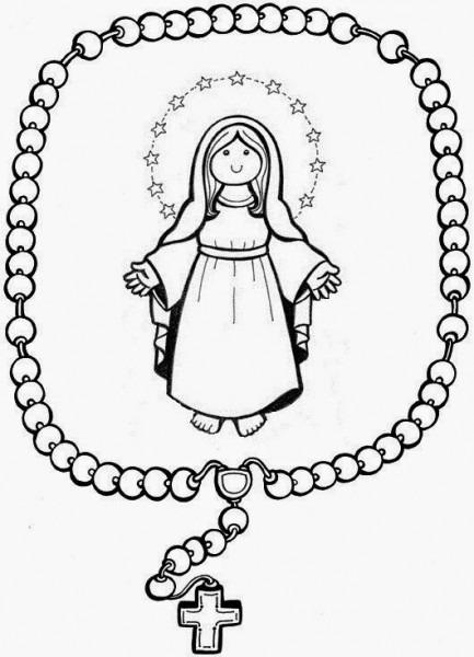 Dibujos De La Virgen Del Rosario Para Colorear