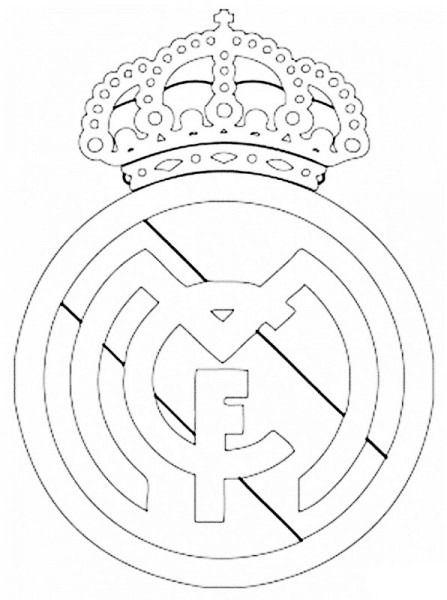 Imagenes De El Escudo Del Real Madrid Para Colorear