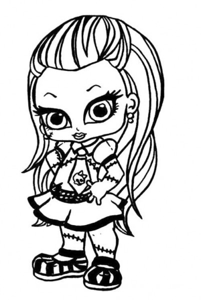 Little Frankie Stein Monster High Coloring Page