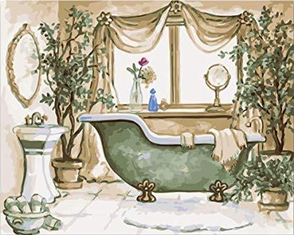 Gvneo Pintura Por Numeros Bricolaje Para Colorear Muebles De Baño
