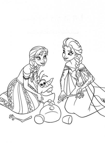 Elsa E Ana Para Pintar