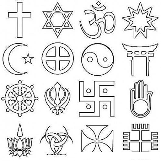 Simbolos Para Colorear