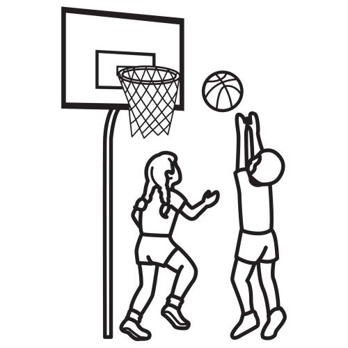 Basketball Para Colorear