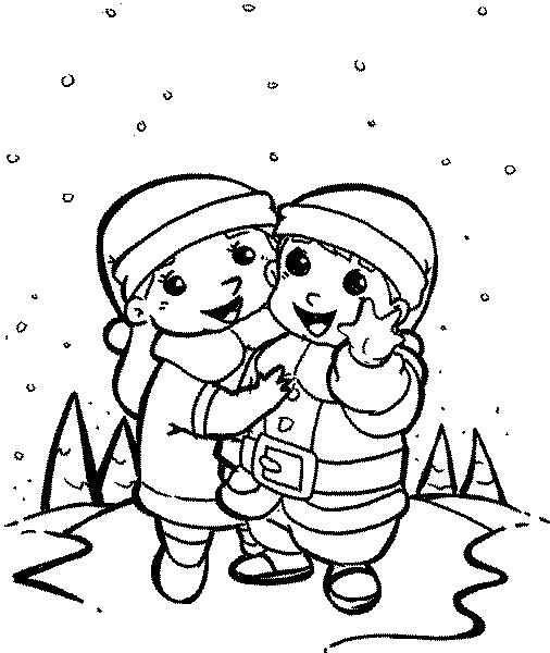 Niños Bajo La Nieve