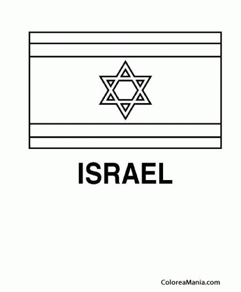 Colorear Israel  Yisrael (banderas De Paises), Dibujo Para