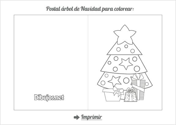 Portal De Árbol De Navidad Para Colorear