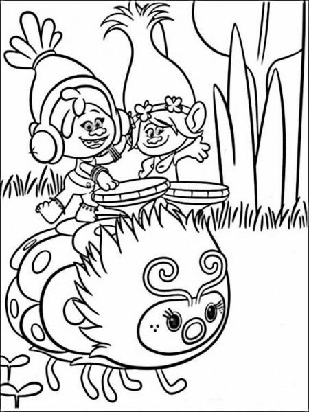 √ Trolls Dibujos Para Colorear Para Nios 7