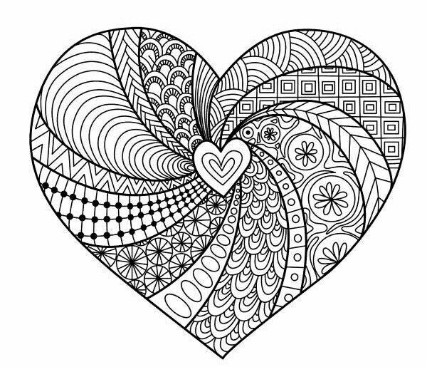 Mandalas De Amor Hermosos Para Hacer, Descargar E Imprimir