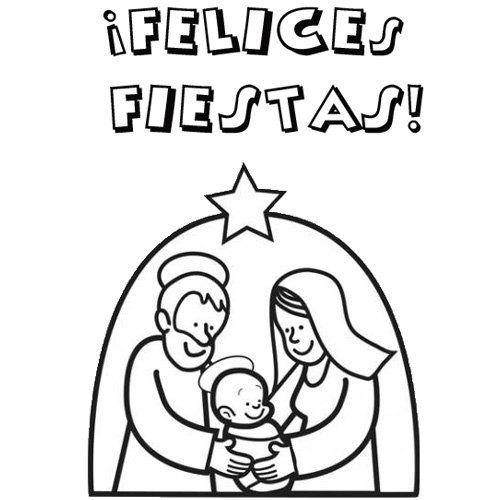 Tarjetas De Navidad Para Imprimir Y Colorear Para Niños
