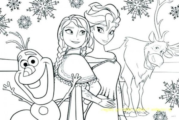 Frozen Coloring Pages Pdf From Frozen Coloring Pages Printable