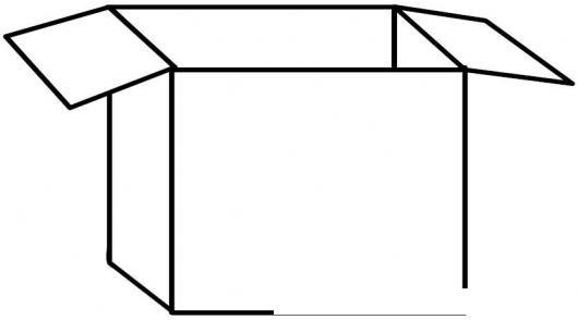 Dibujo De Caja De Carton Para Pintar Y Colorear