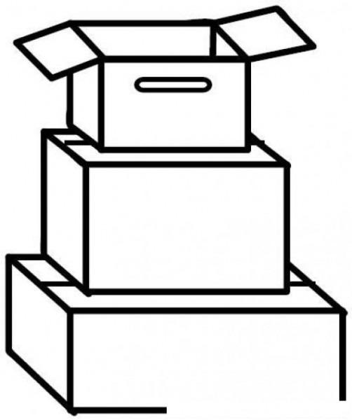 3 Cajas De Carton Para Colorear Y Pintar