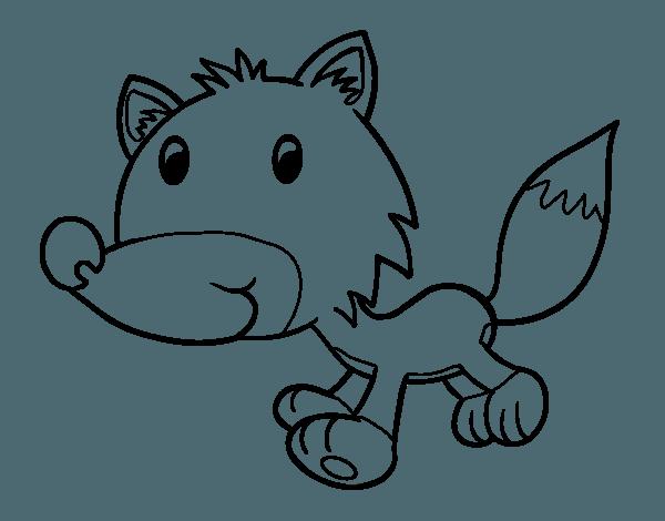 Dibujo De Coyote Bebé Para Colorear