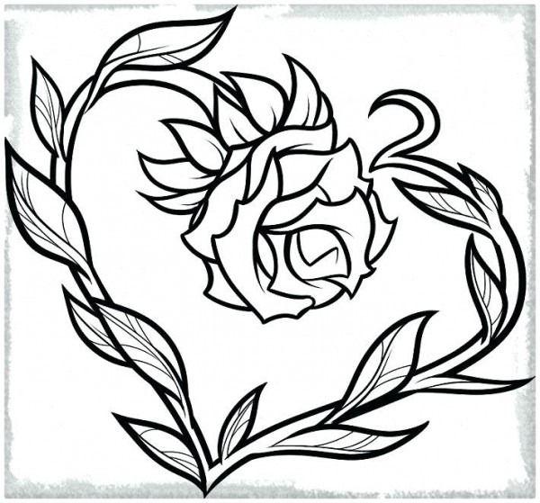 Corazones Y Rosas Para Colorear Para A Corazones Y Rosas Para En