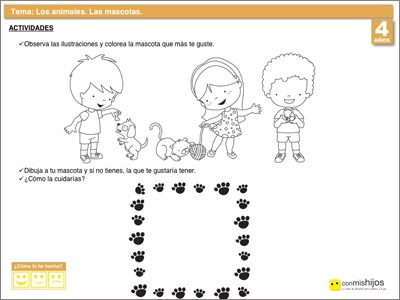 Fichas Escolares De Animales  Las Mascotas