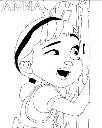 Dibujos Elsa Y Anna Para Colorear