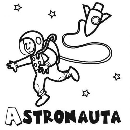 Dibujo De Un Astronauta Para Pintar