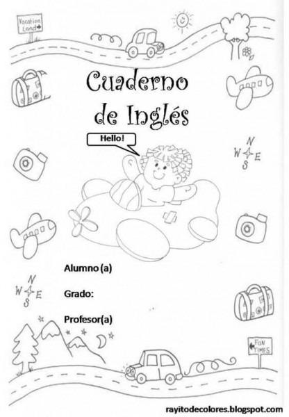 Caratulas Para Cuadernos Imágenes Imprimir Dibujos Fotos Niños En