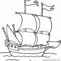 Barco Para Colorear Preescolar