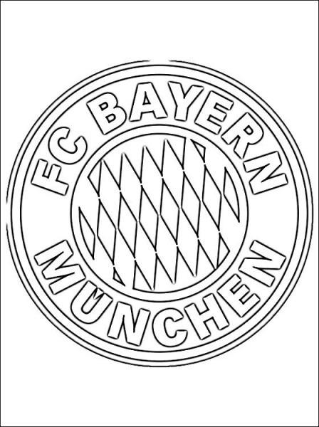 Escudo Del F  C  Bayern Múnich Para Colorear