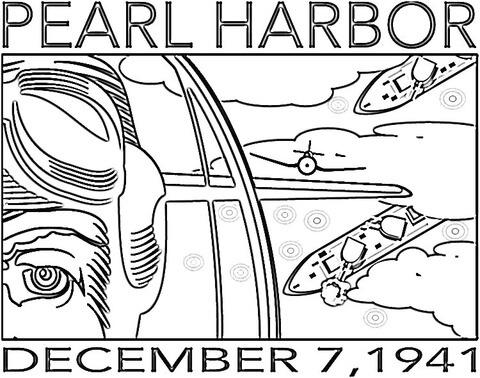 Dibujo De El Inicio De La Segunda Guerra Mundial Para Eeuu (pearl