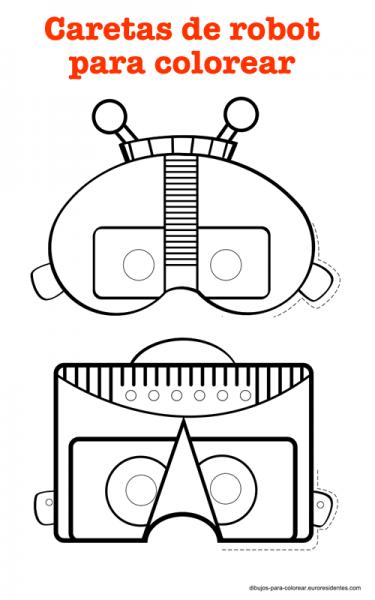 Divertidas Caretas Robot Para Imprimir