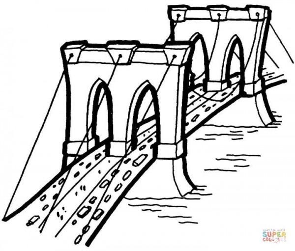 Dibujo De El Puente Para Colorear