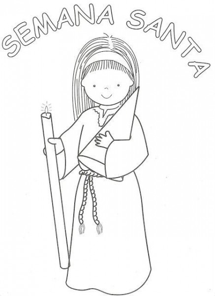 Dibujos Católicos   Semana Santa Para Colorear