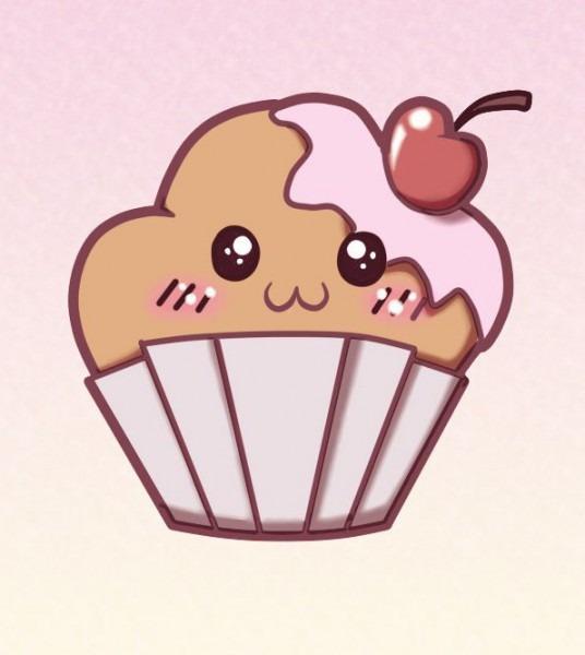 Muffins En Dibujos