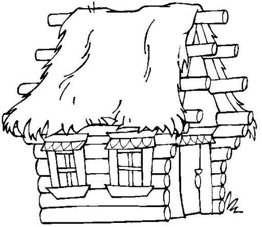 Dibujos Para Colorear De Cabañas