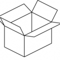 Dibujos De Cajas De Carton Para Colorear