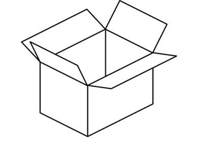 Imágenes De Cajas De Cartón Para Colorear