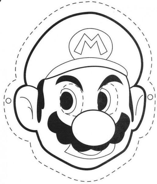 Dibujo Careta De Mario Bros