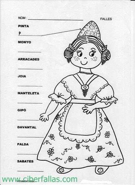 Fallas, Falleros, Falleras, Para Colorear, Pintar – Ciberfallas