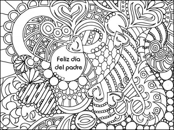 Dibujo Para Colorear Relajante Dia Del Padre 2
