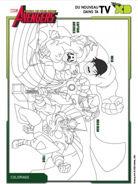 Dibujos Para Colorear Los Vengadores