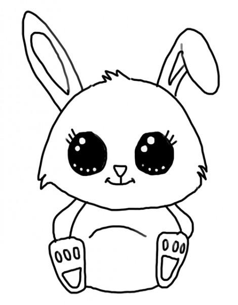 Dibujos De Conejos Para Colorear ☆ Imágenes Para Imprimir Y