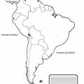 Mapa De America Del Sur Para Colorear Sin Nombres