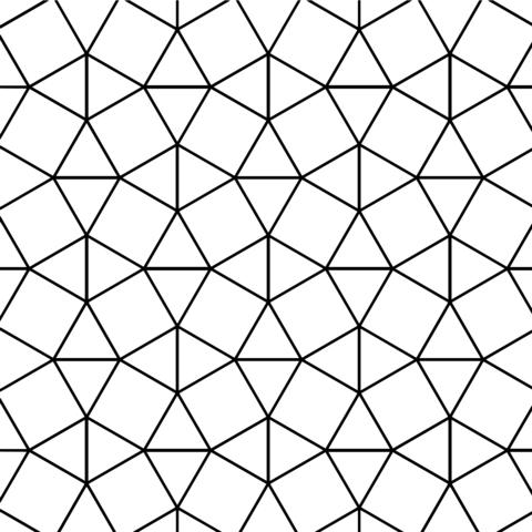 Teselado Con Baldosas Cuadradas Y Triangulares Dibujo Para