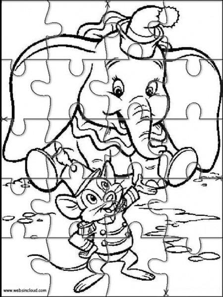 Puzzles Rompecabezas Para Imprimir Para Niños Dumbo 4